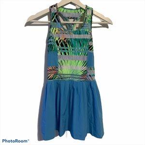 Ideology girls M tennis dress tropical mesh stripe